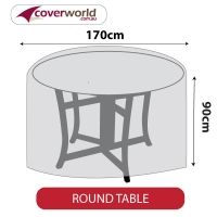 Round Table Cover - 170cm Diameter