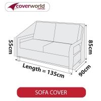 Patio Sofa Cover - Up to 135cm Length