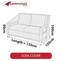 Patio Sofa Cover - Up to 155cm Length
