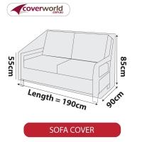 Patio Sofa Cover - Up to 190cm Length