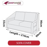 Patio Sofa Cover - Up to 210cm Length