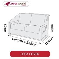 Patio Sofa Cover - Up to 225cm Length