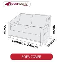 Patio Sofa Cover - Up to 245cm Length