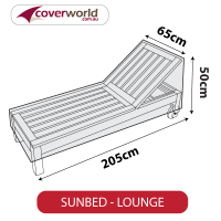 Sun Lounge Cover - Slim with Raised Backrest