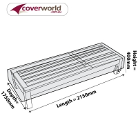 Sun Lounge or Low Rectangle Cover - Wide and Stored Flat