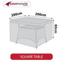 Square Table Cover - 200cm