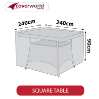 Square Table Cover - 240cm