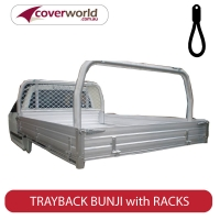 Custom Trayback Dropside Tonneau Bunji Style with Racks in Tray