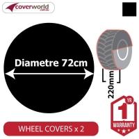 Ground Wheel Covers (Pack of 2) - 720mm Diameter x 220mm Depth