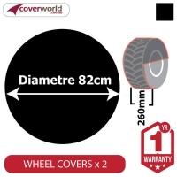 Ground Wheel Covers (Pack of 2) - 820mm Diameter x 260mm Depth